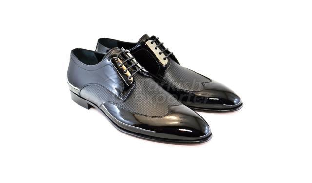4929 حذاء براءة اختراع سوداء