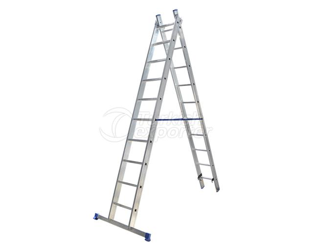 2 Section Aluminum Industrial Ladder A Type