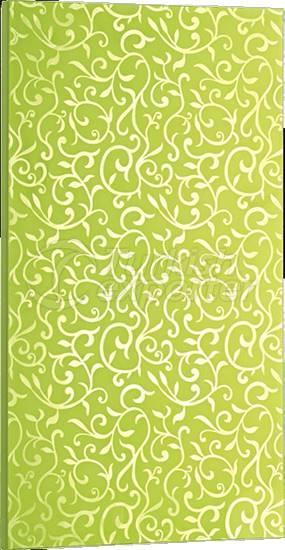 Bright PVC Cupboard Door Green Flower
