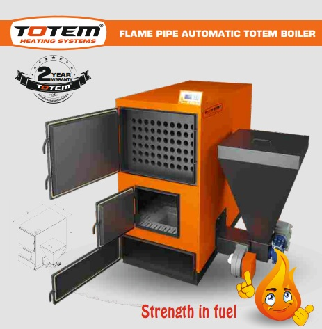 FLAME PIPE AUTO LOADING CENTRAL SYSTEM TOTEM BOILER