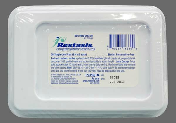 RESTASIS 0.4 ML OFT SOL 30 VIALS