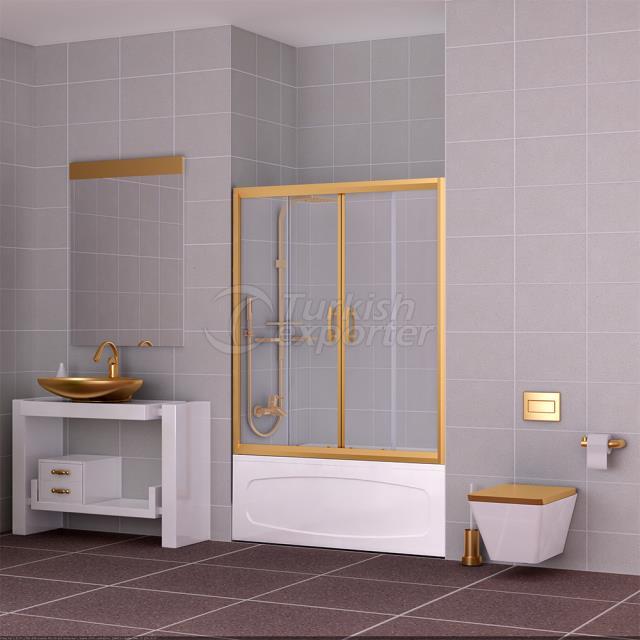 Plain Shower Cabin Ruby