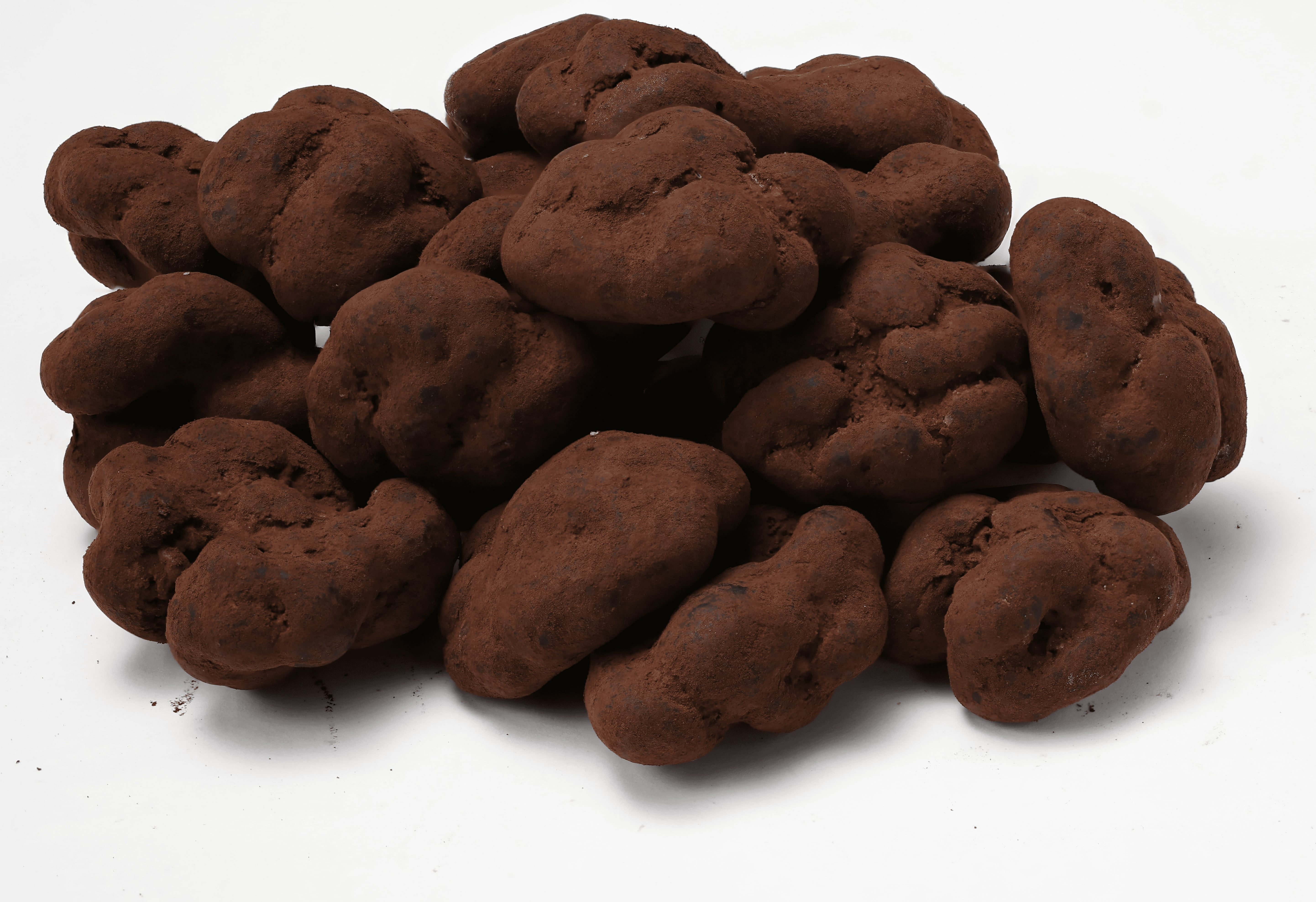 Chocolate Coated Walnut Dragee With Cocoa Powder