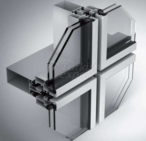 Semi Structural Glazing Curtain Wall