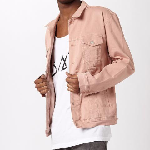 Denim Western Jacket – Pink