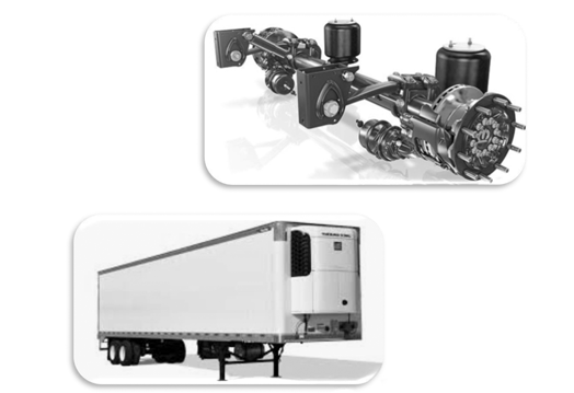 Trailer Axle And Suspension Parts