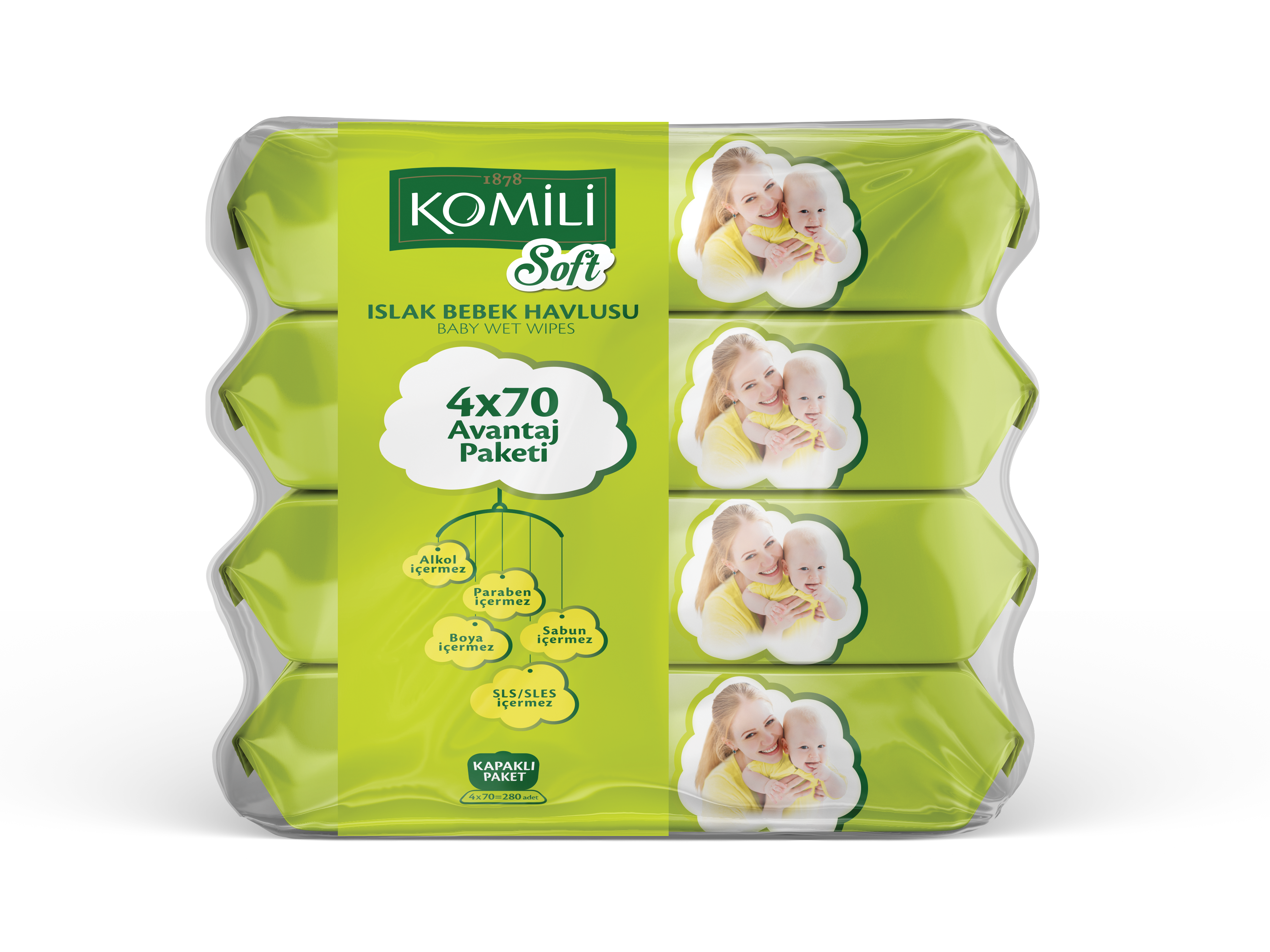 Komili Soft Wet Wipes for Baby