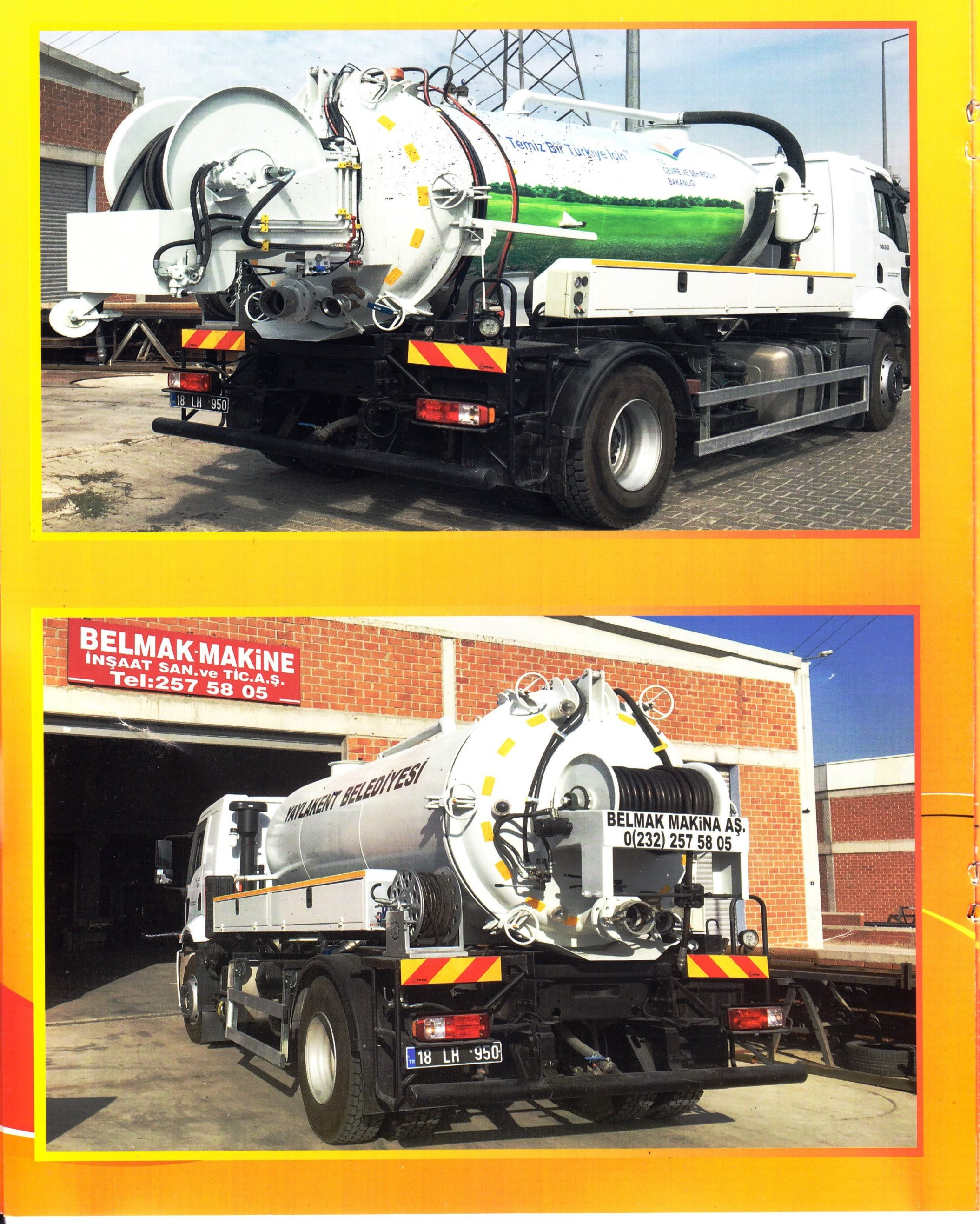 sewage truck together with channel opener