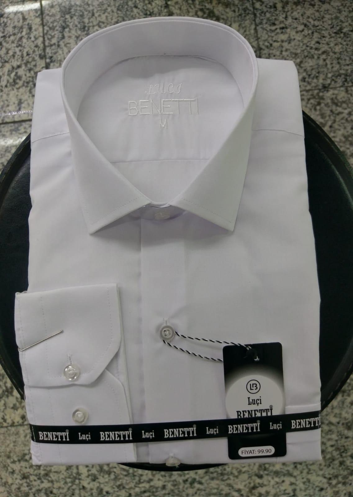 Camisas de hombre lisas clásicas
