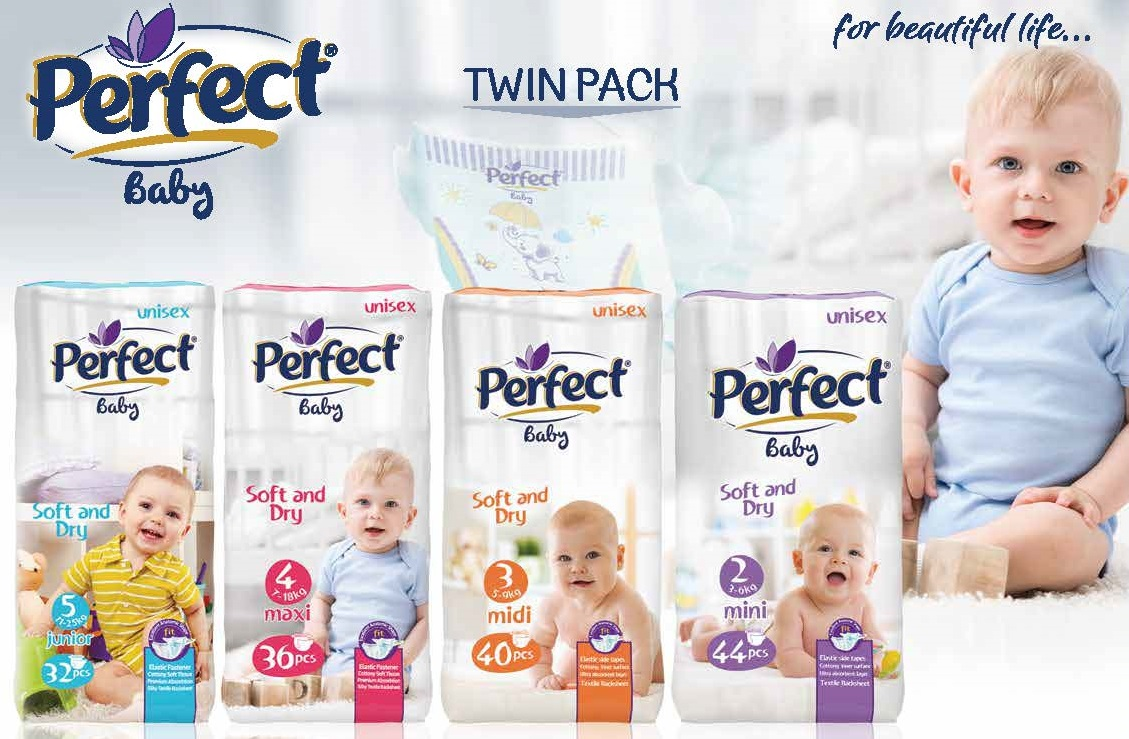 Perfect Baby Twin-Pack Baby Diaper