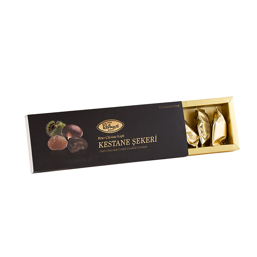 Dark Chocolate Covered Candied Chestnut