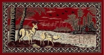 Deer Fabric Panel