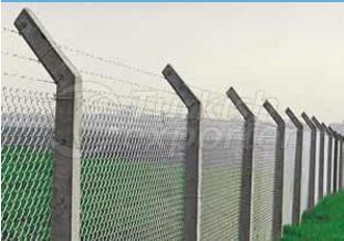 Poteau de clôture en béton
