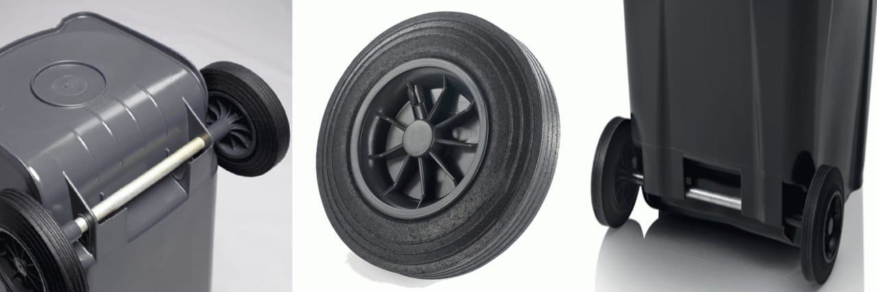 Rubber Wheels- Roll Away Carts, Garbage, Wheelie Bin