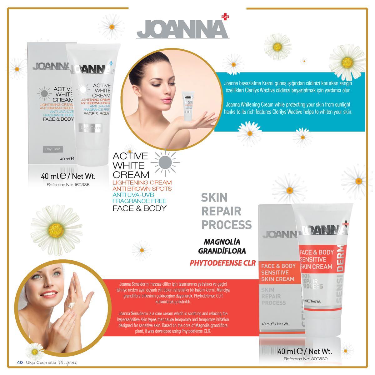 Joanna active white cream