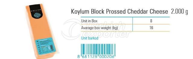 Queso Cheddar Prossed en lonchas Koylum 2000 g