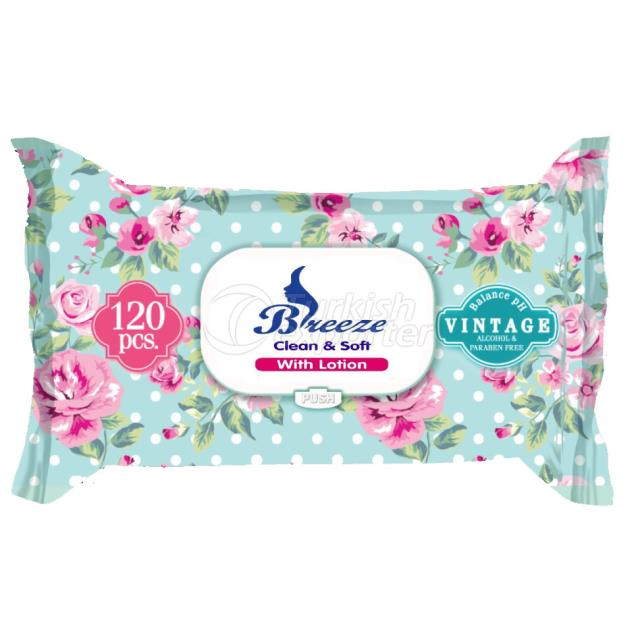 Un1045-Breeze Wet Wipes 120 Pcs Vintage