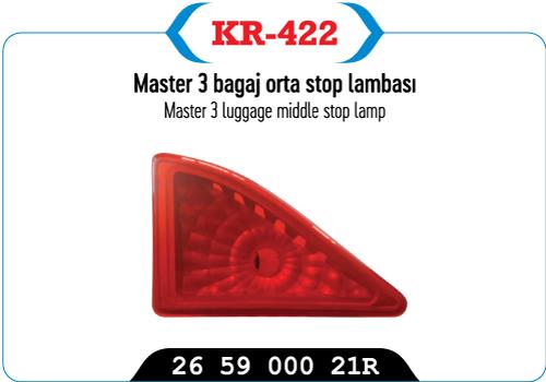 MASTER 3 BAGAJ ORTA STOP LAMBASI