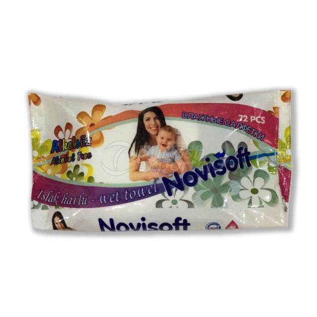 Toallitas húmedas para bebés 72 piezas