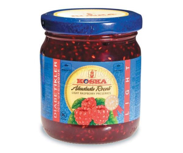 Light raspberry jam 240gr