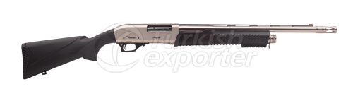 605 Silver Pump Action Shotgun