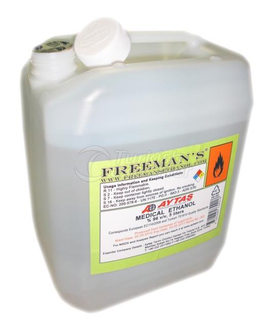5 Liters Medical Ethanol 96%
