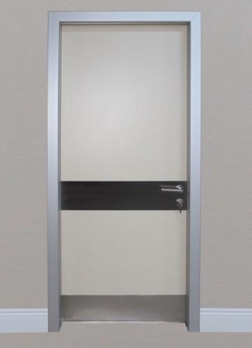 Aluminium frame doors
