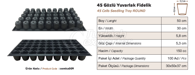 45 Cells Round Seedling Tray