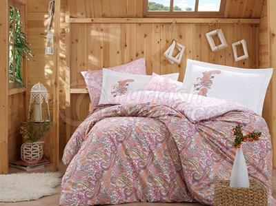 Giulia Pink - Poplin Single Bed Linen Set (8698499123687)