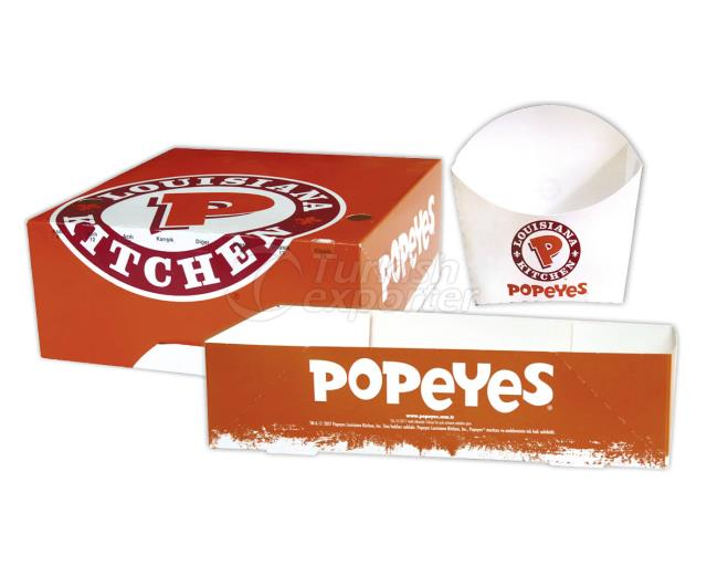 Popeyes Fast Food Boxes