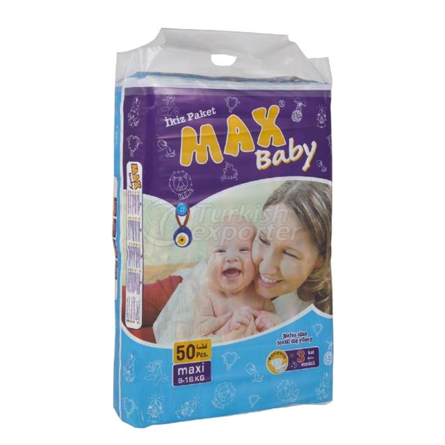 Baby Diapers Maxi 50 pcs