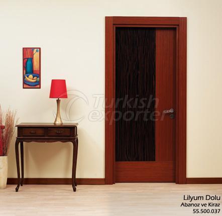 Porte en bois Lilyum