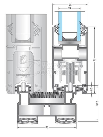 Sistemas deslizantes de aluminio 38C