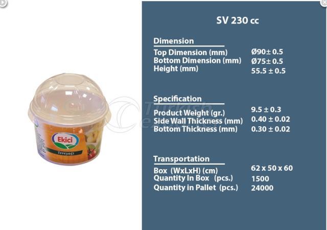 Plastic Container 230 cc