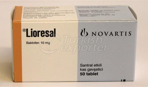 LIORESAL 10 MG 50 TABLETS