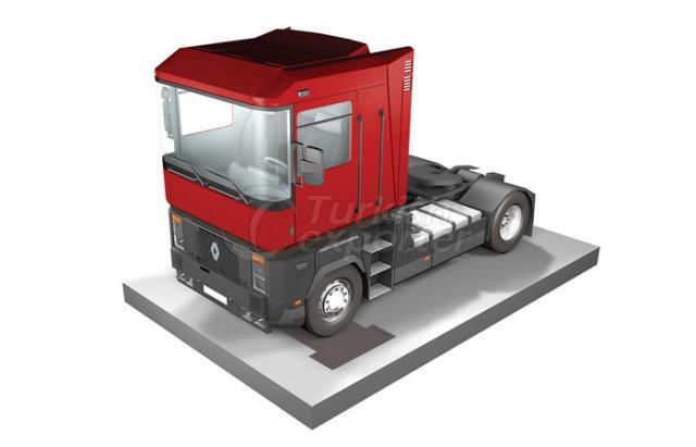 ديناميكي الشاحنة المحور يزن