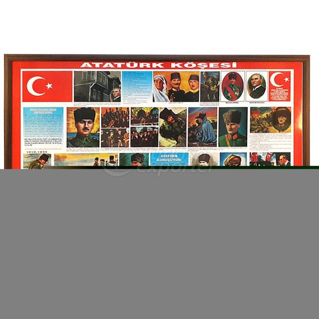 Wooden Framed Ataturk Board