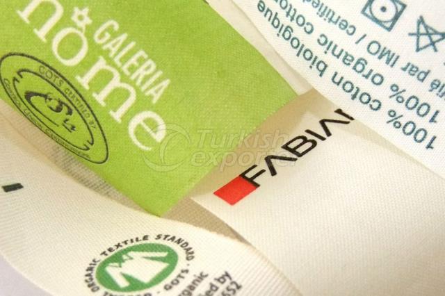 Organic Printed Fabric Label