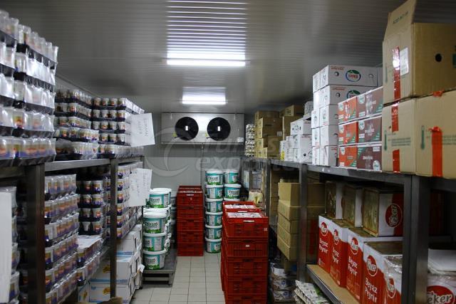 Stockage à froid des produits laitiers