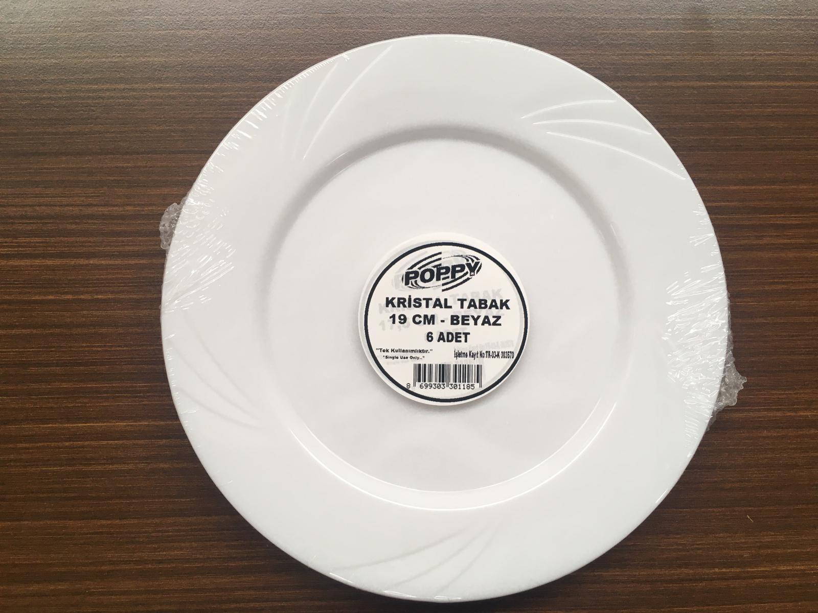 Plastic Crystal Plate 195 mm