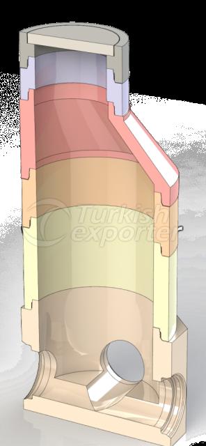 مكينة انتاج مداخن مجاري