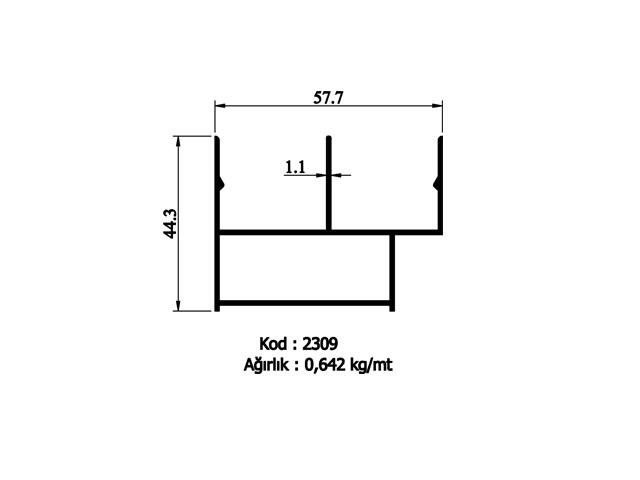 Flywatter Profiles 2309