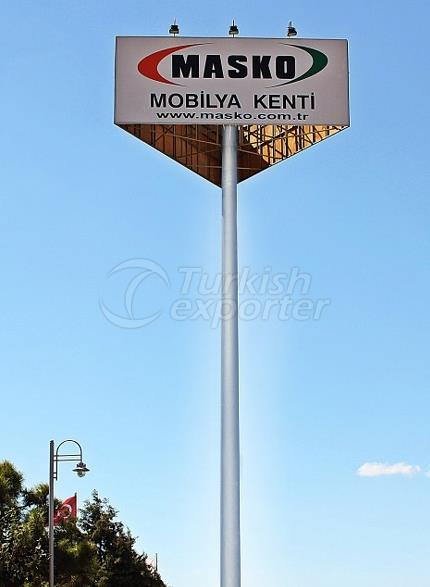 Signage And Totem Poles