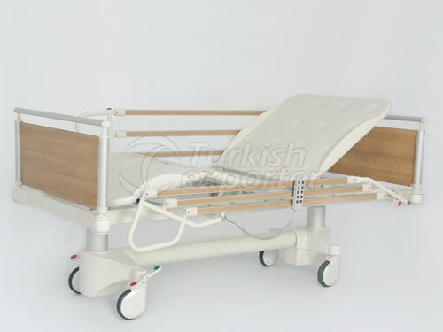 Lit d'hôpital 4 moteurs avec des colonnes