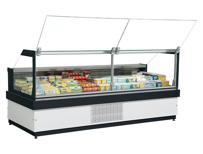 ASTRIXplug in curved or flat glass serve over showcase