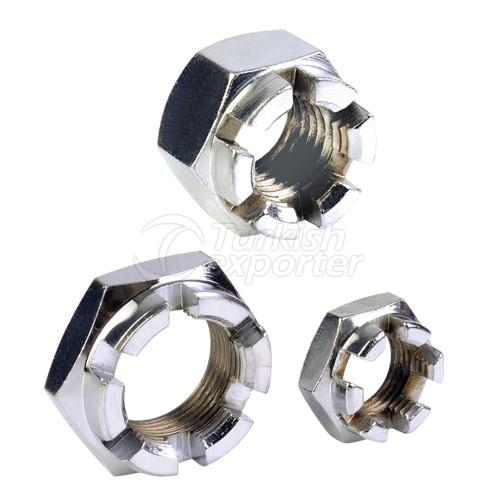 Low Slotted And Castel Hexagon Nuts