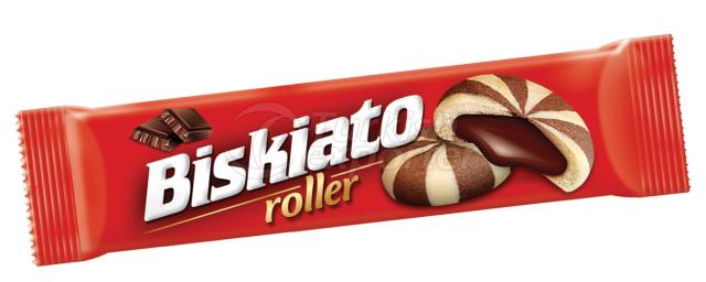 Biskiato Roller Mosaic Biscuit Filled with Cocoa Cream