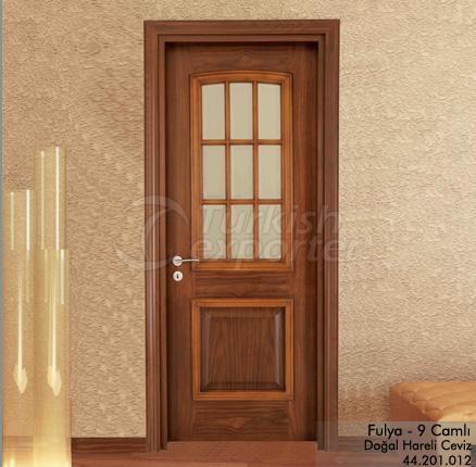 Ahşap Kapı Fulya 9 Camlı