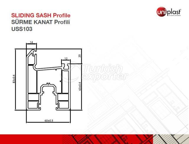 Sliding Sash Profile USS103