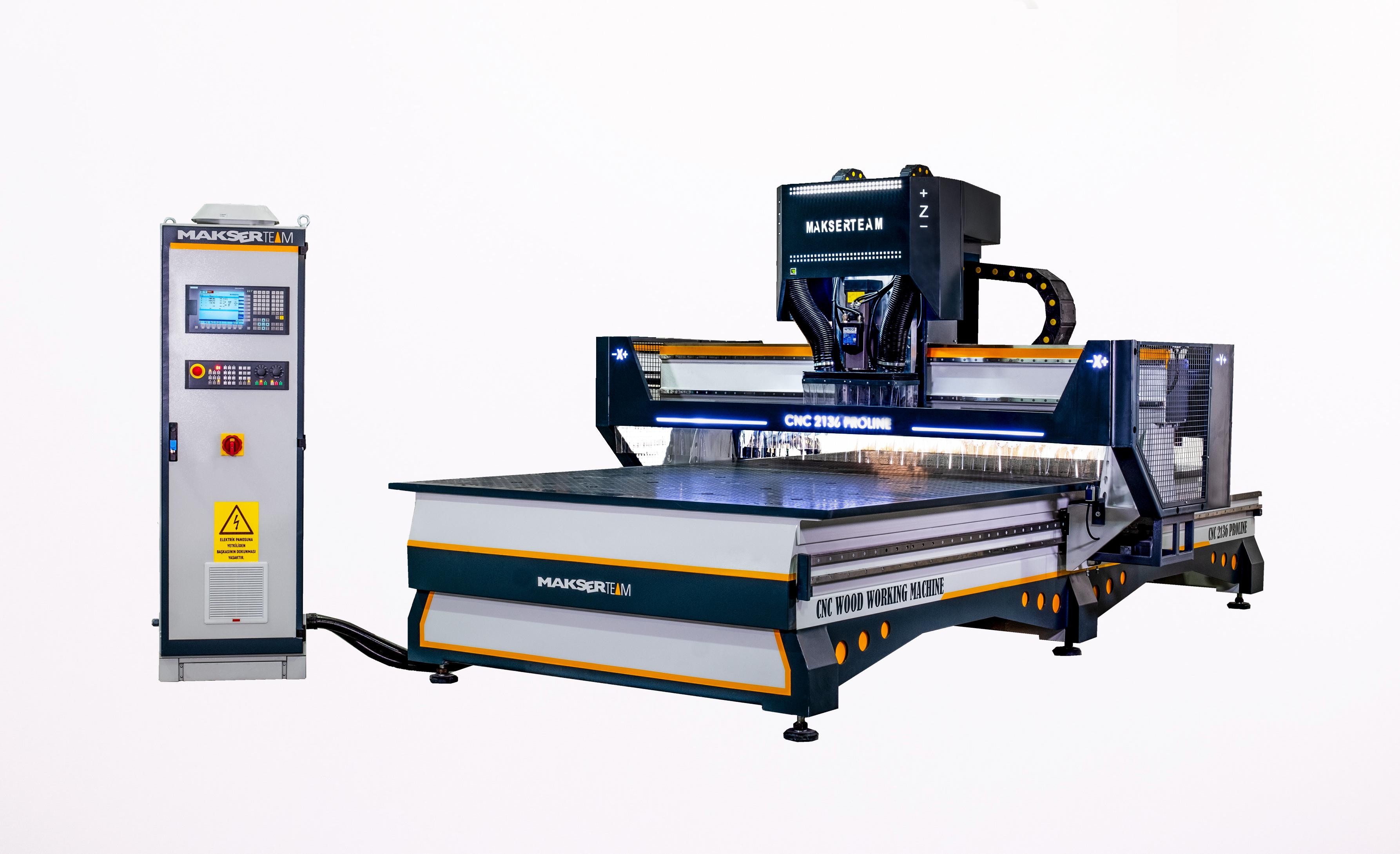CNC 2136 PRO SIEMENS EDITION CNC Woodworking Machine 2100x3660 8 area vacuum 8.5 12 KW spindle